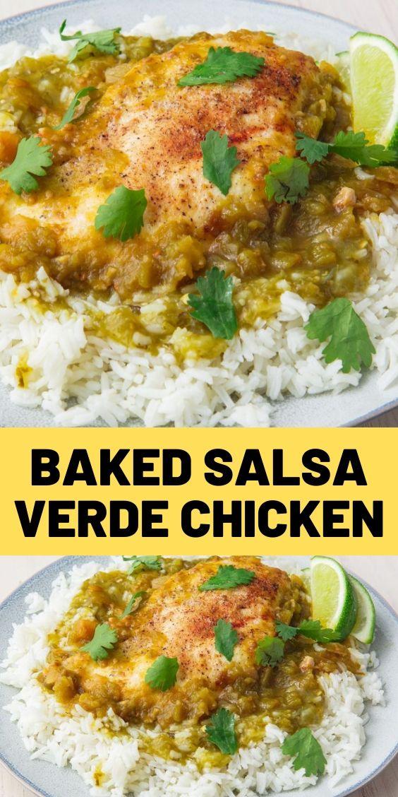 Baked Salsa Verde Chicken