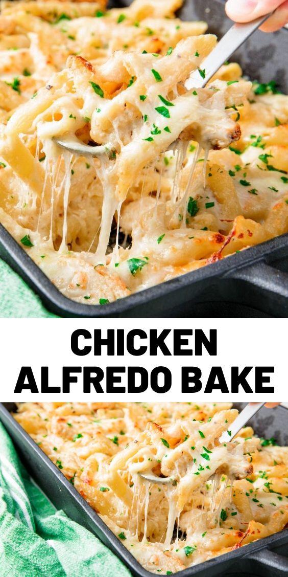 Best Chicken Alfredo Bake