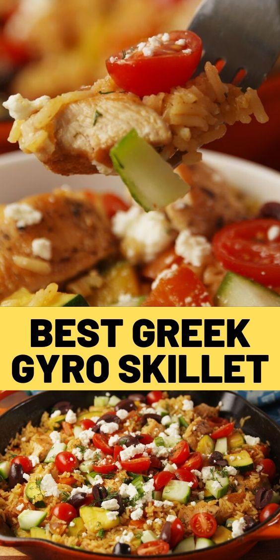 Best Greek Gyro Skillet