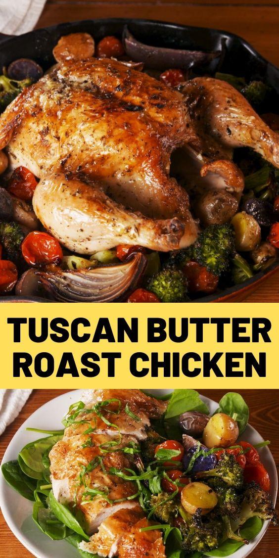 Best Tuscan Butter Roast Chicken