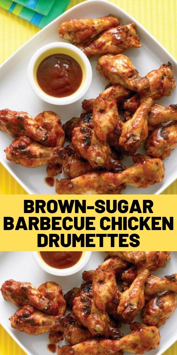 Brown-Sugar Barbecue Chicken Drumettes