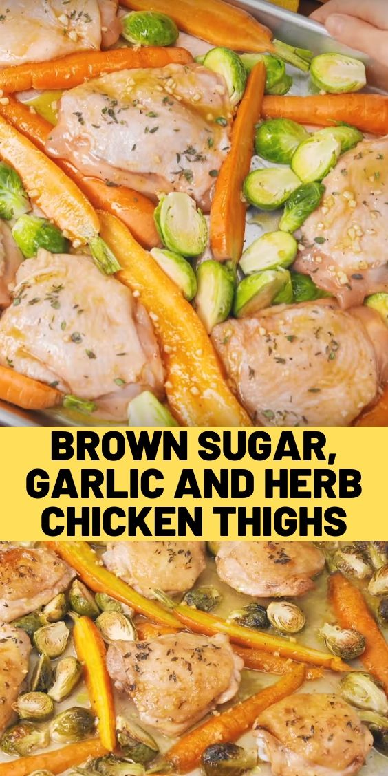 Brown Sugar, Garlic and Herb Chicken Thighs