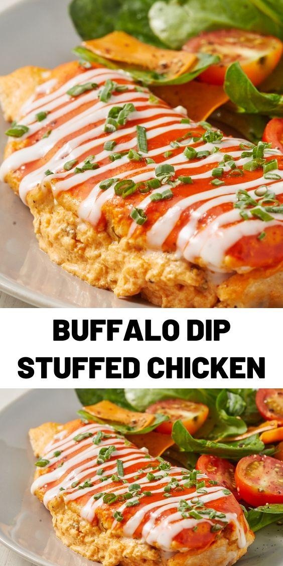 Buffalo Dip Stuffed Chicken
