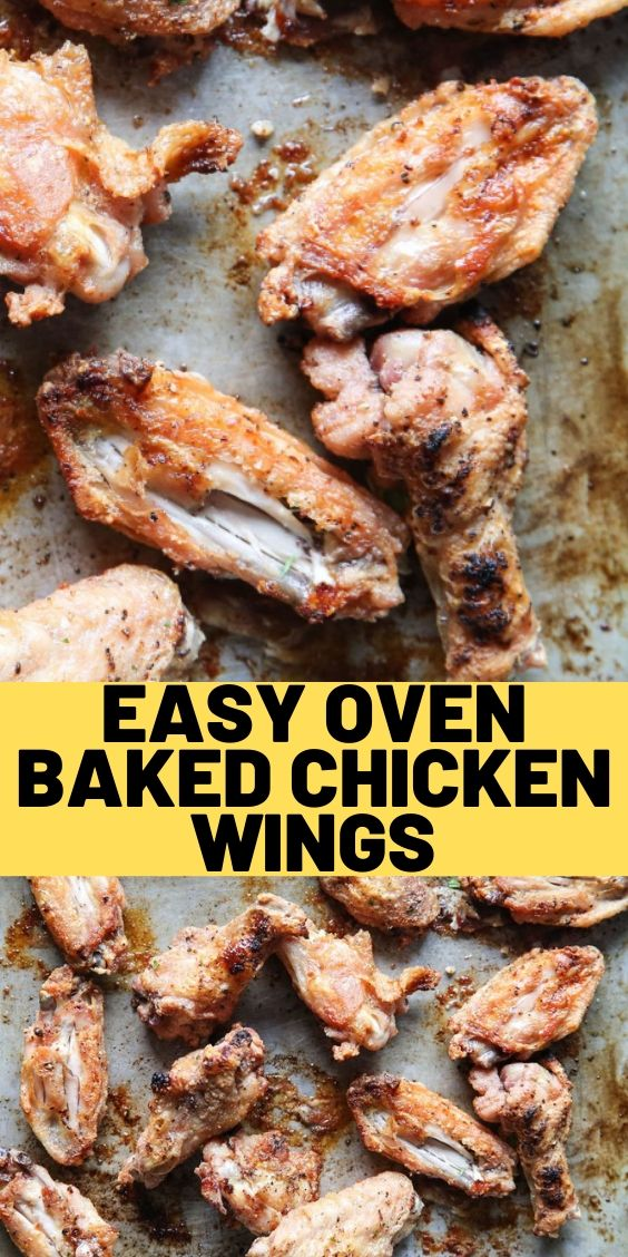 Easy Oven Baked Chicken Wings