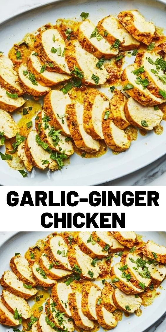 Garlic-Ginger Chicken With Cilantro and Mint