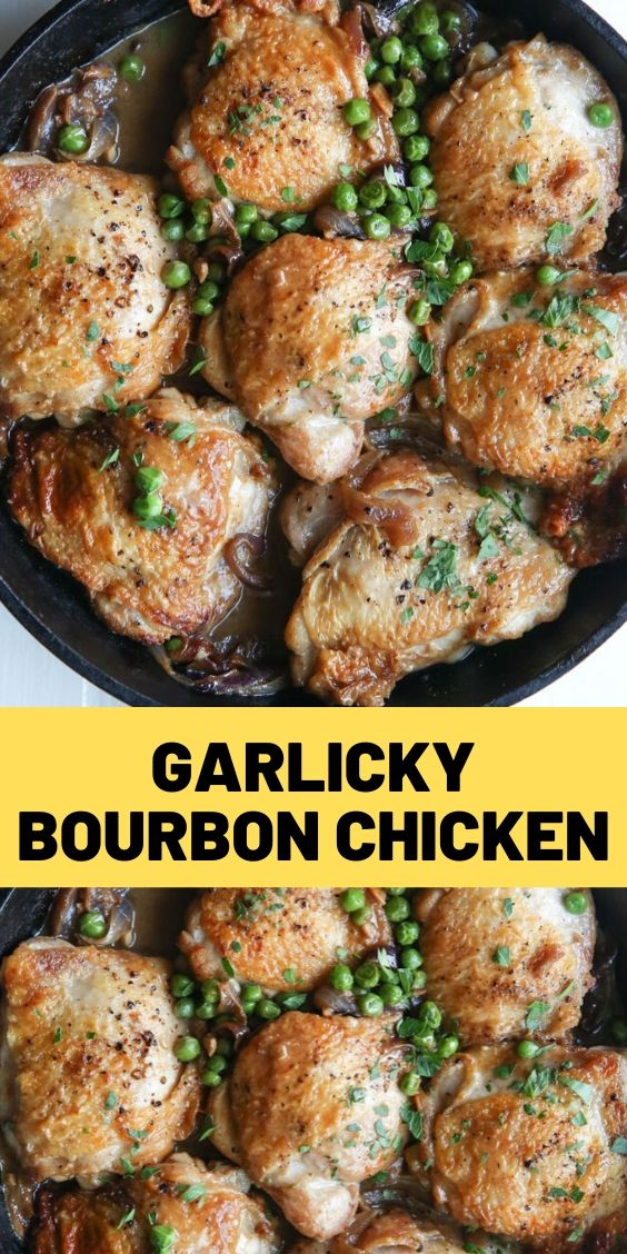 Garlicky Bourbon Chicken