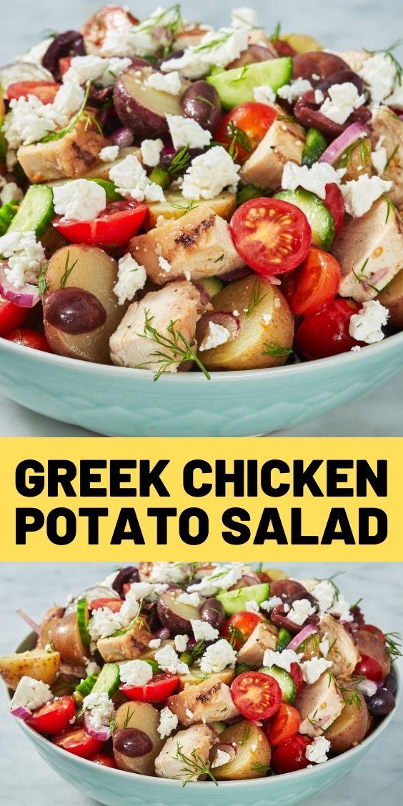 Greek Chicken Potato Salad