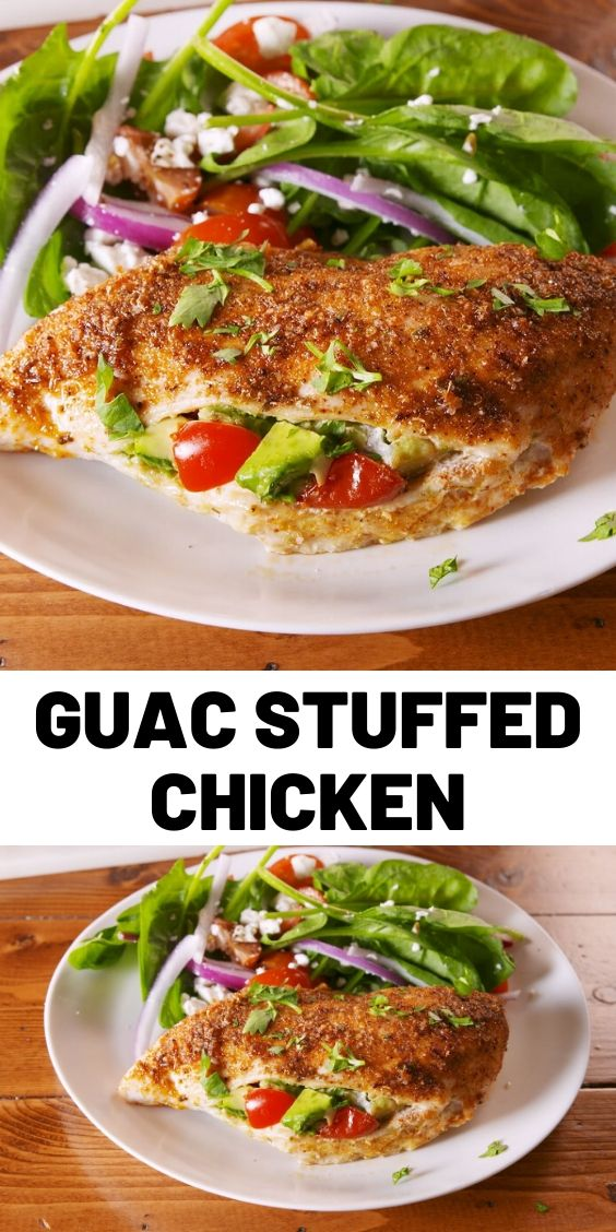 Guac Stuffed Chicken