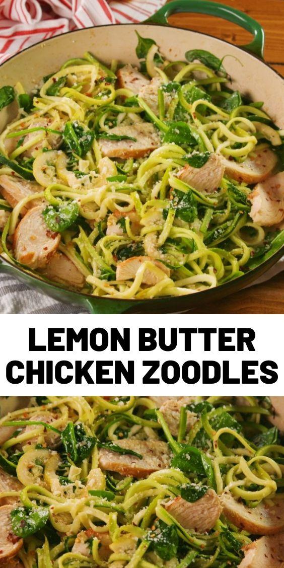 Lemon Butter Chicken Zoodles