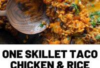 One Skillet Taco Chicken & Rice