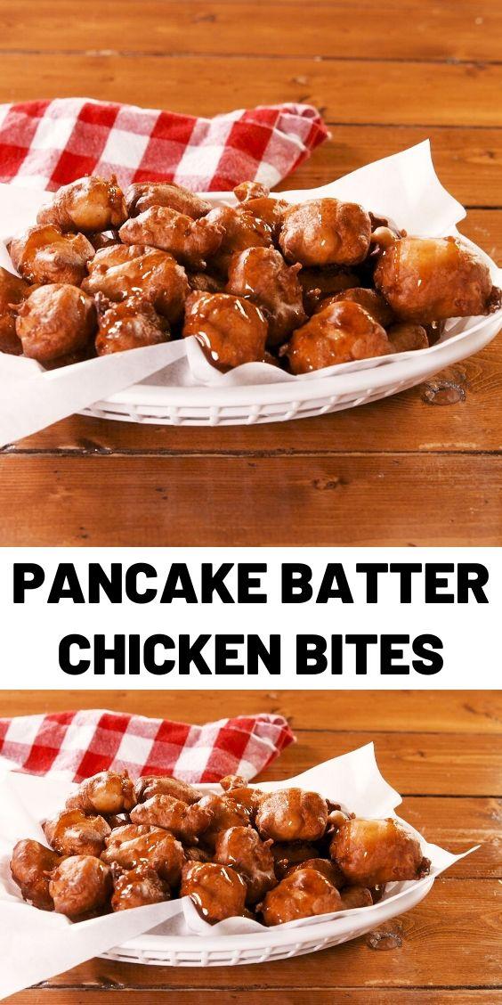Pancake Batter Chicken Bites