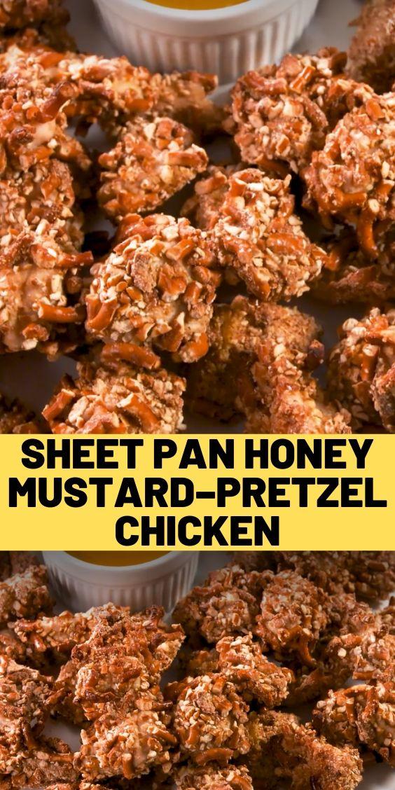 Sheet Pan Honey Mustard–Pretzel Chicken