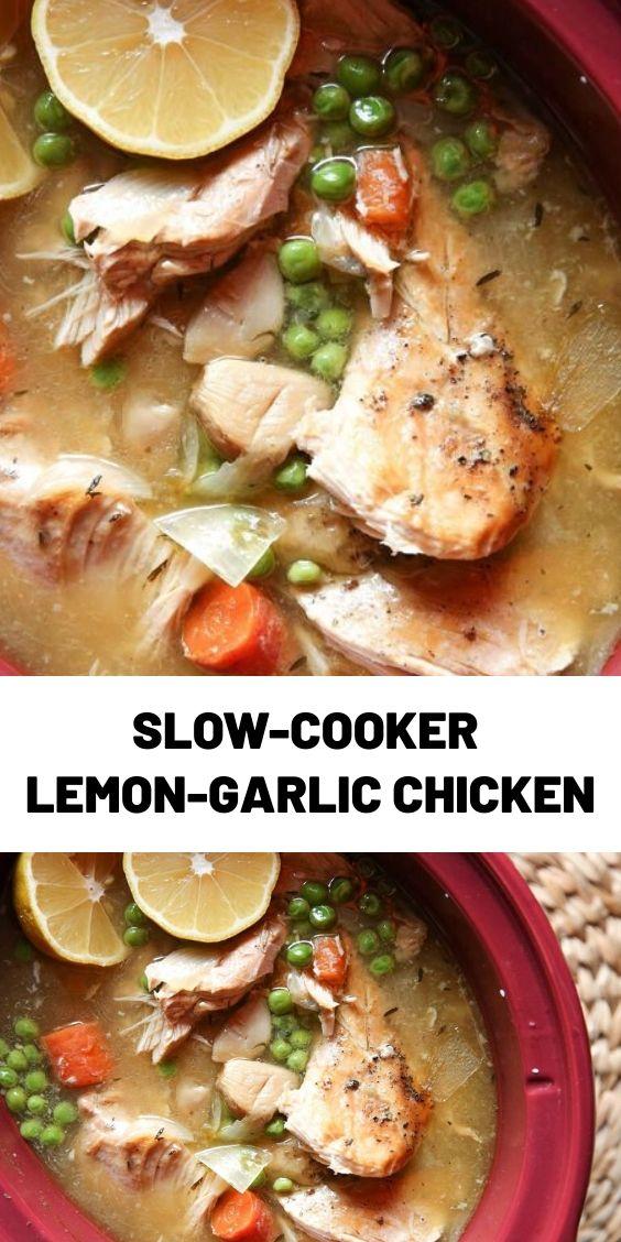 Slow-Cooker Lemon-Garlic Chicken