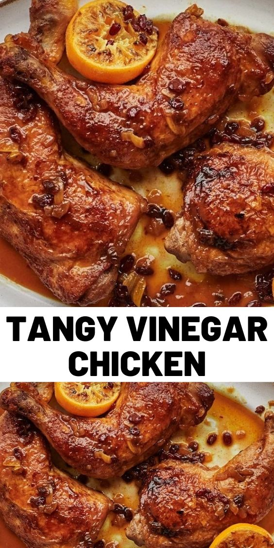 Tangy Vinegar Chicken With Barberries and Orange