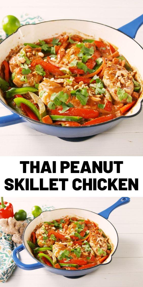 Thai Peanut Skillet Chicken