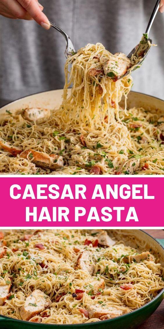 Best Caesar Angel Hair Pasta
