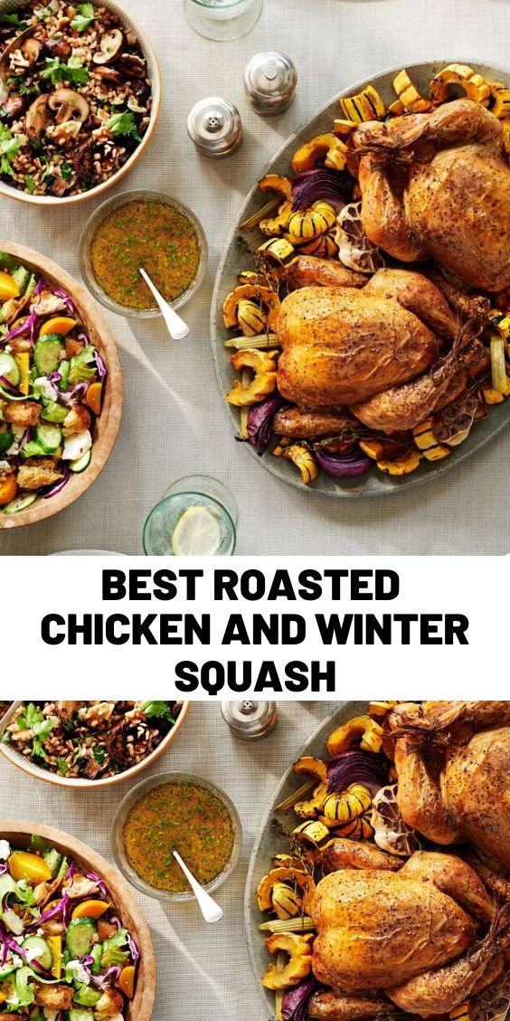 Best Roasted Chicken and Winter Squash