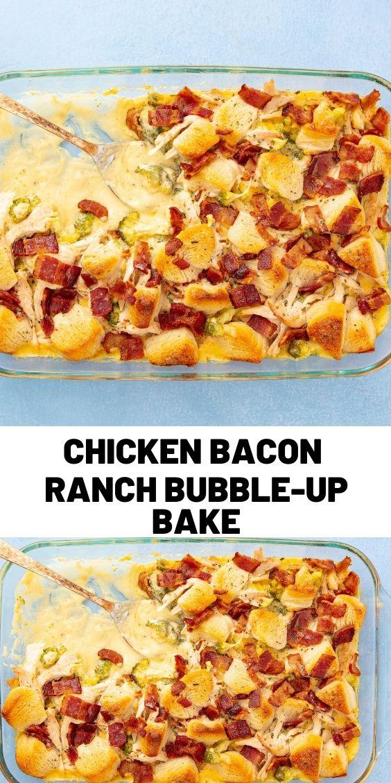 Chicken Bacon Ranch Bubble-Up Bake