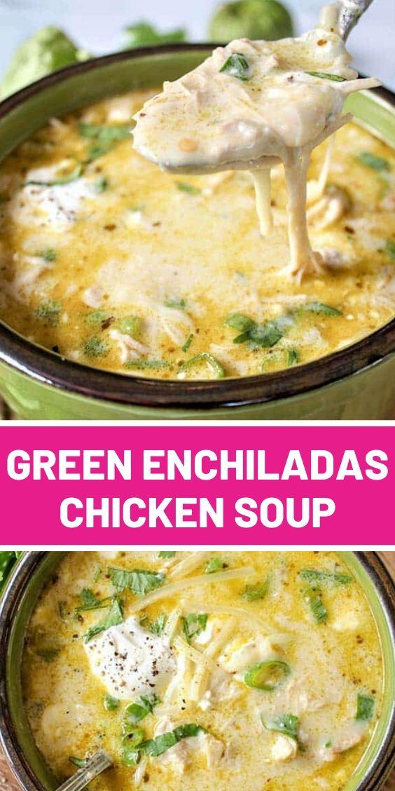 Green Enchiladas Chicken Soup