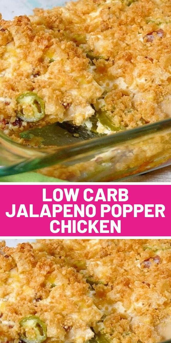 Low Carb Jalapeno Popper Chicken