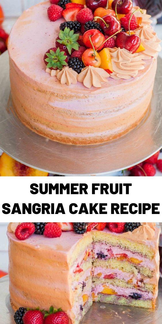Summer Fruit Sangria Cake Recipe