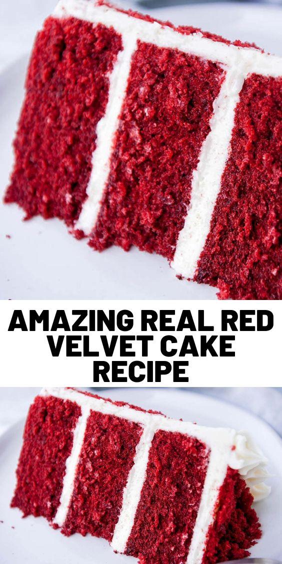 Amazing Real Red Velvet Cake Recipe