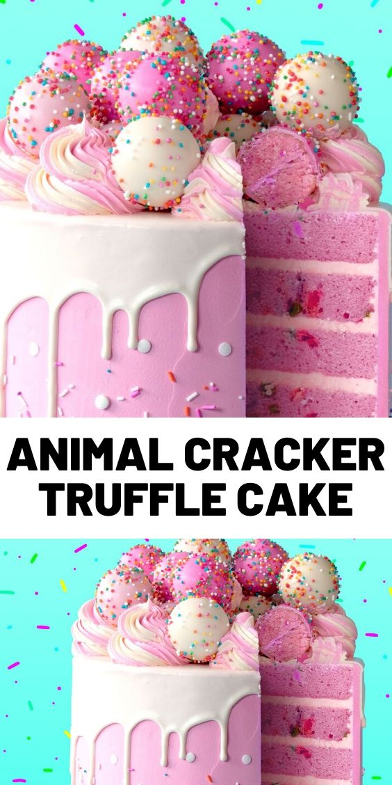 Animal Cracker Truffle Cake