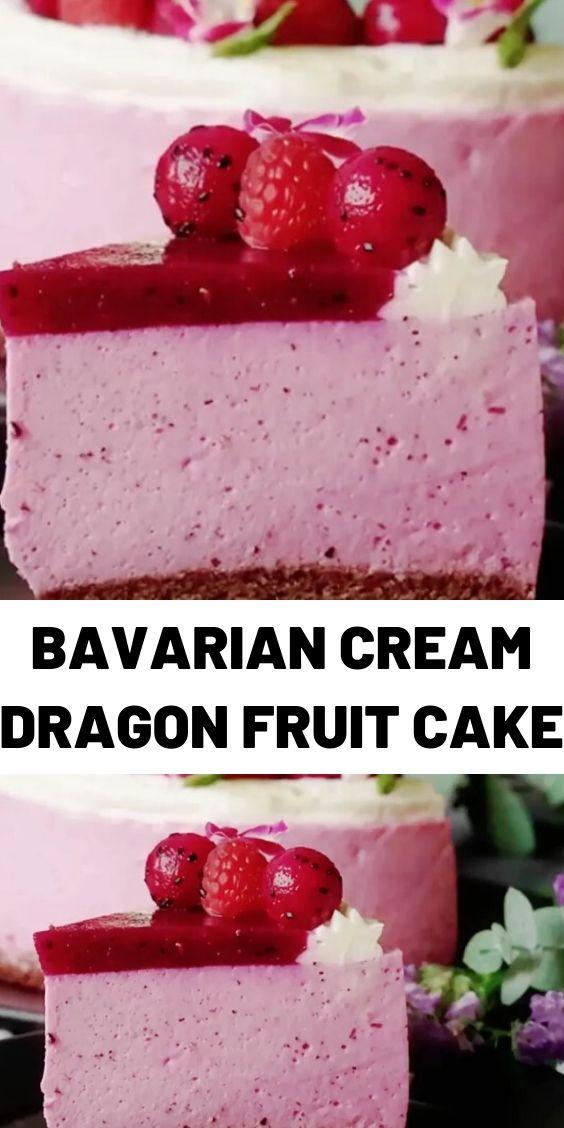 Bavarian Cream Dragon Fruit Cake