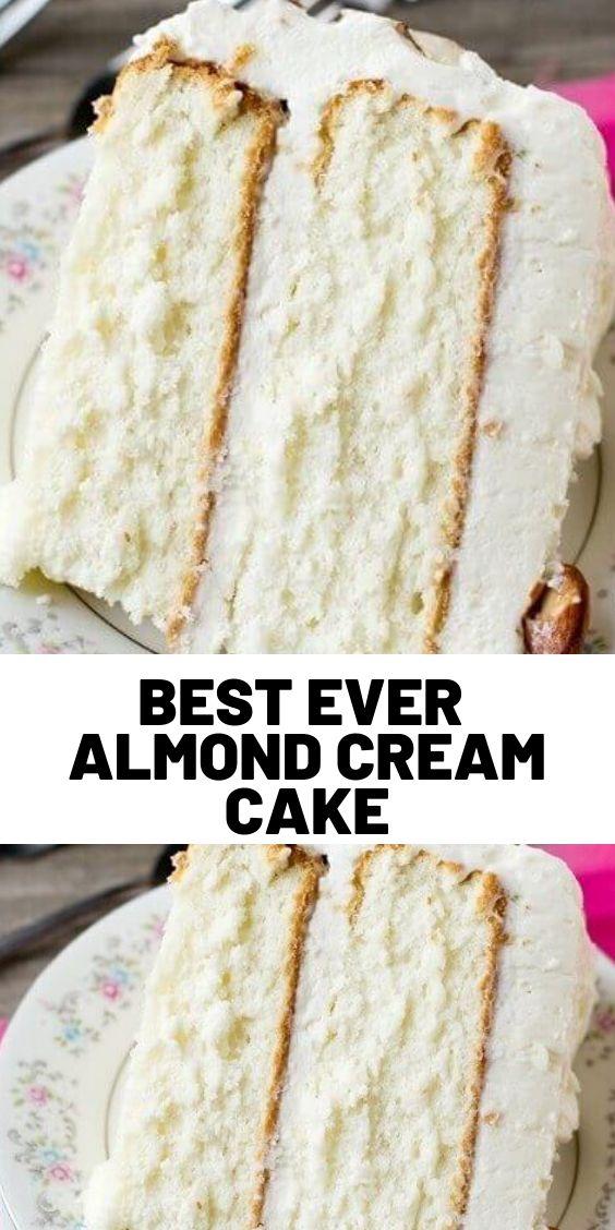 Best Ever Almond Cream Cake