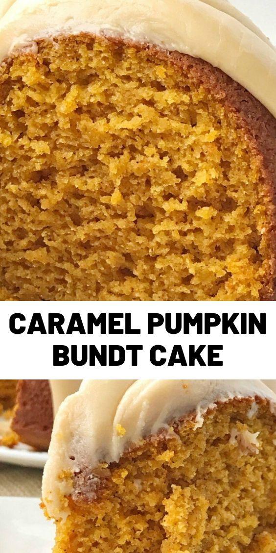 Caramel Pumpkin Bundt Cake