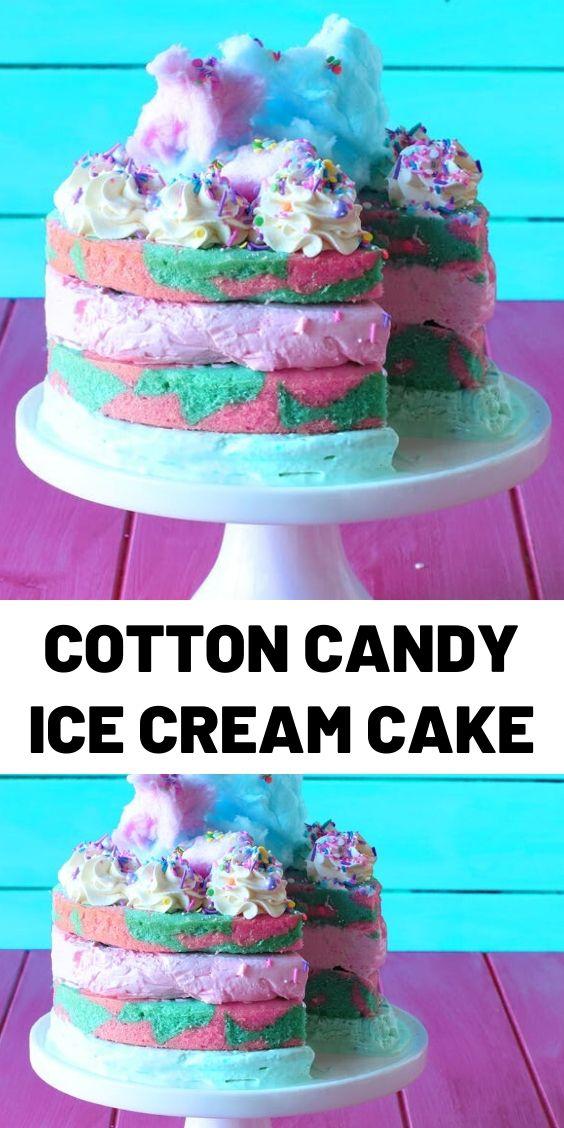 Cotton Candy Ice Cream Cake