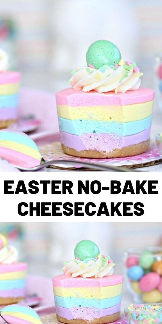Easter No-Bake Cheesecakes