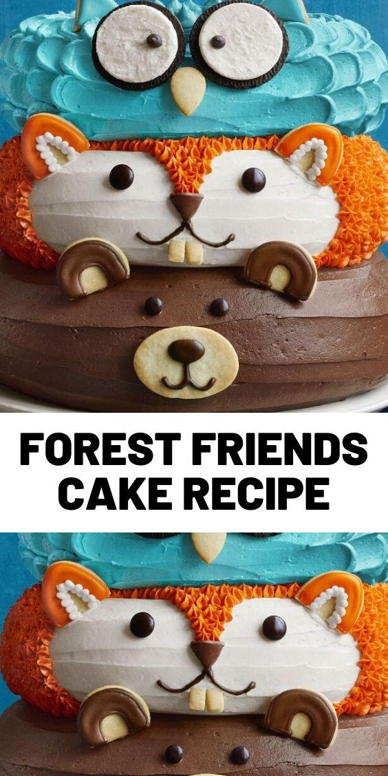 Forest Friends Cake Recipe