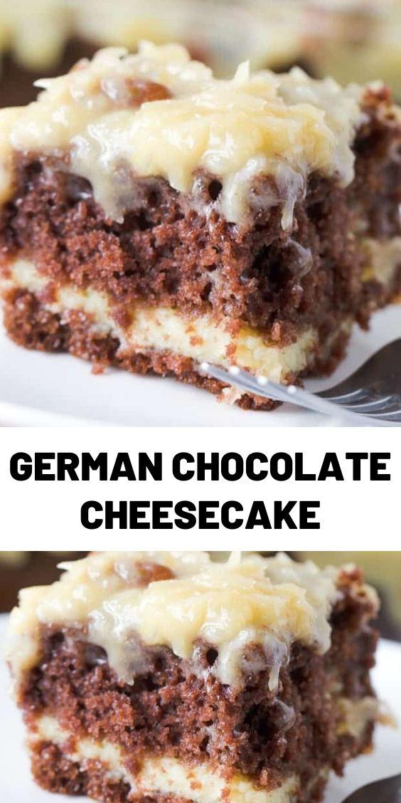 German Chocolate Cheesecake
