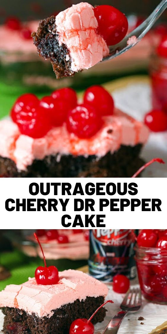 Outrageous Cherry Dr Pepper Cake