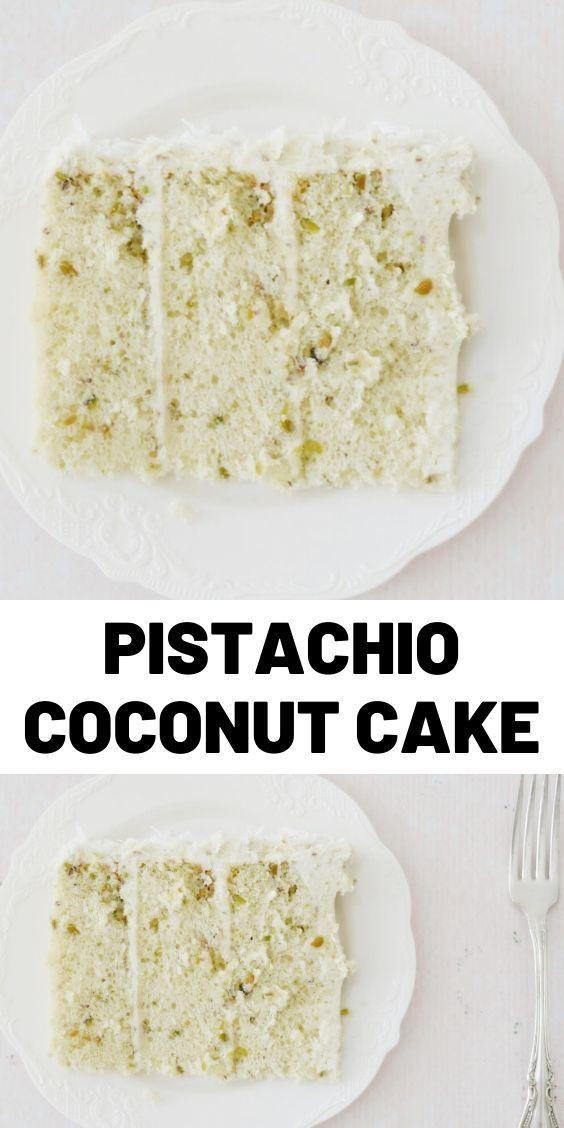 Pistachio Coconut Cake