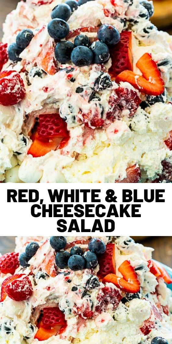 Red, White & Blue Cheesecake Salad