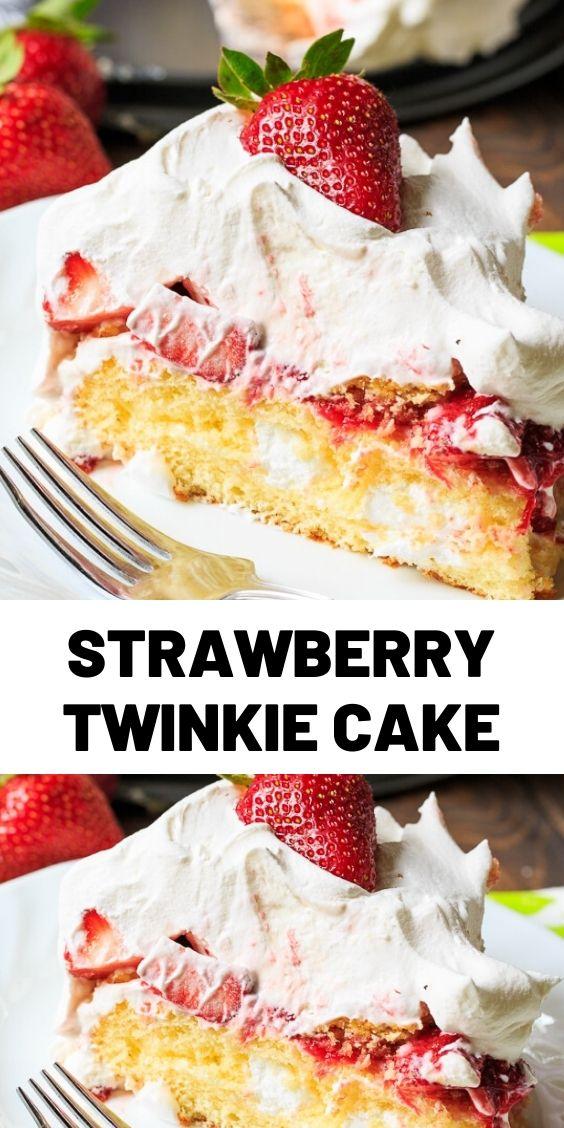 Strawberry Twinkie Cake