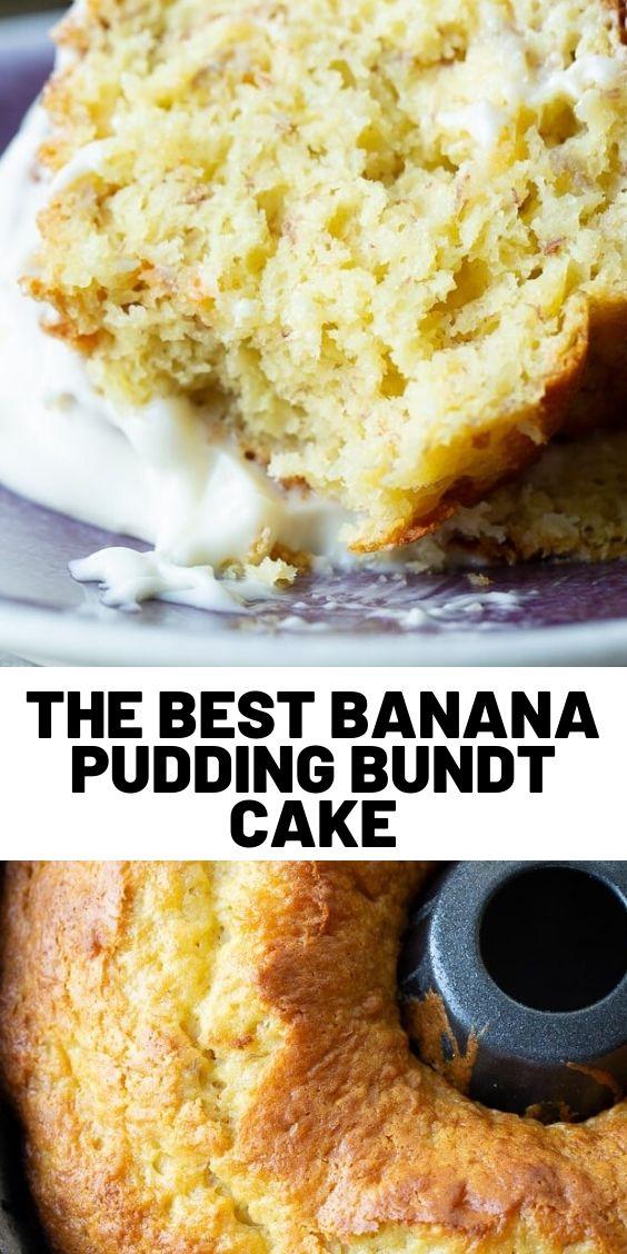 The Best Banana Pudding Bundt Cake