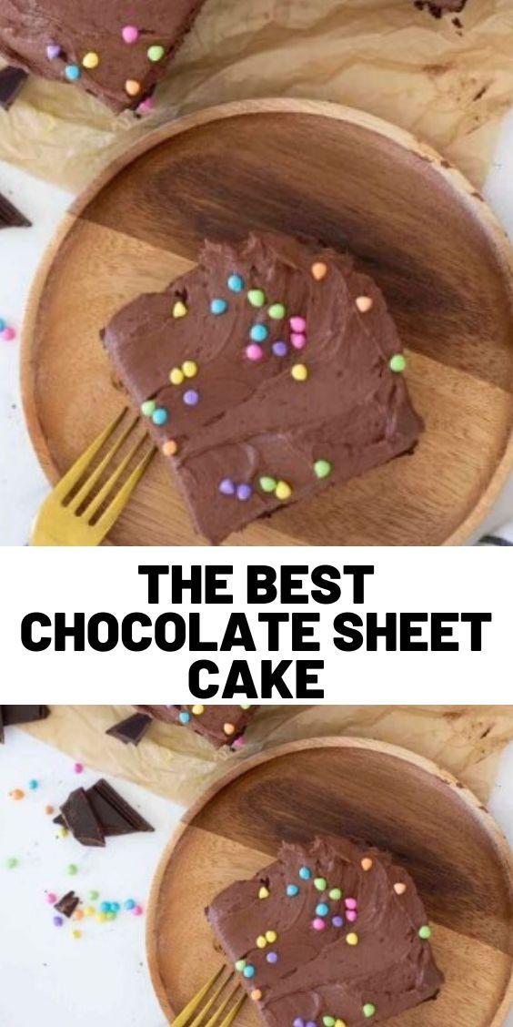 The Best Chocolate Sheet Cake