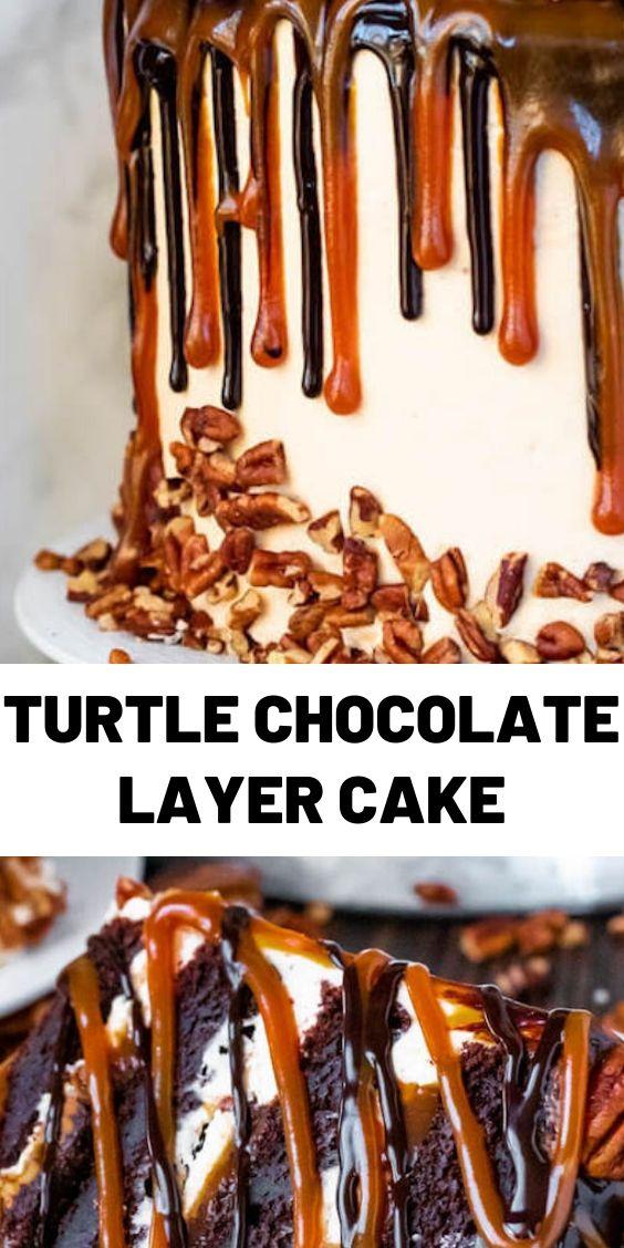 Turtle Chocolate Layer Cake