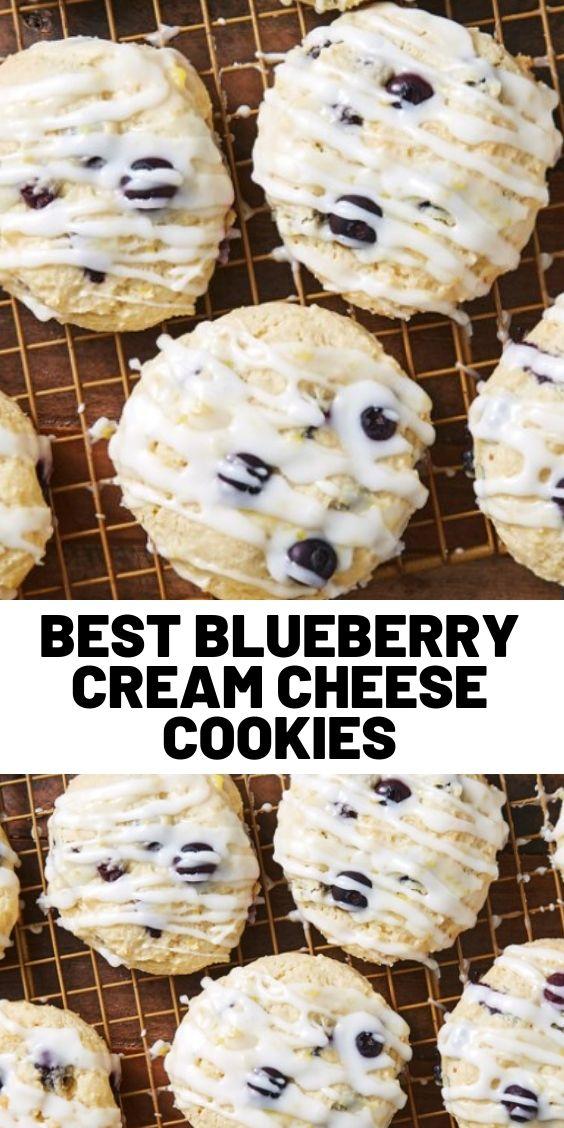 Best Blueberry Cream Cheese Cookies