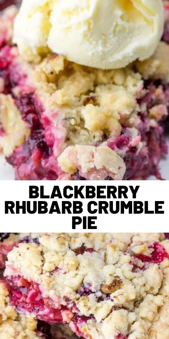 Blackberry Rhubarb Crumble Pie