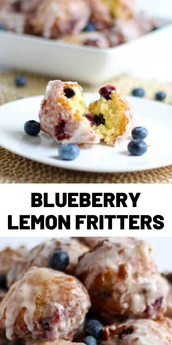Blueberry Lemon Fritters