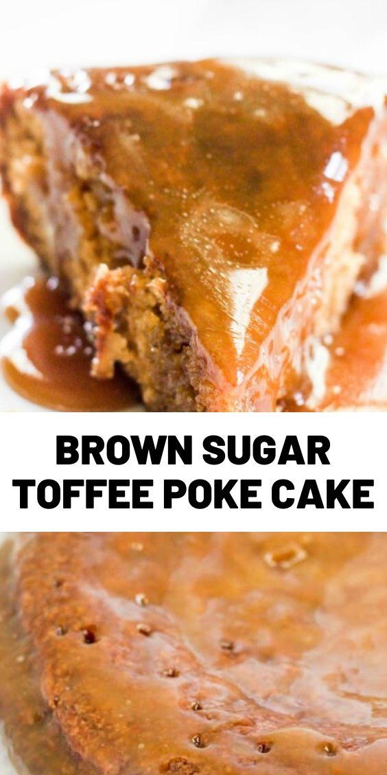 Brown Sugar Toffee Poke Cake