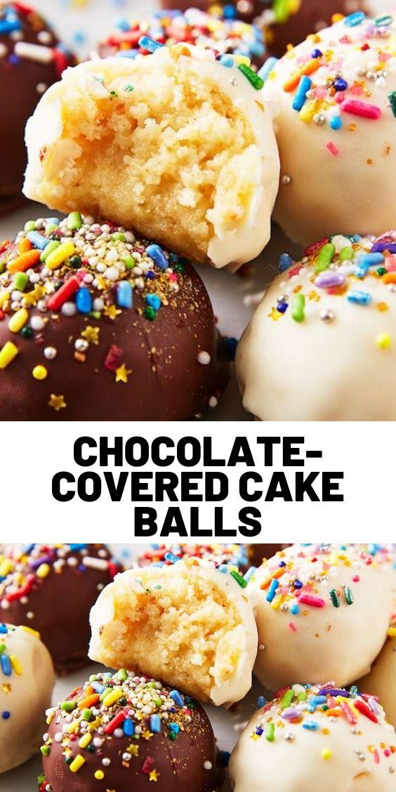 Chocolate-Covered Cake Balls
