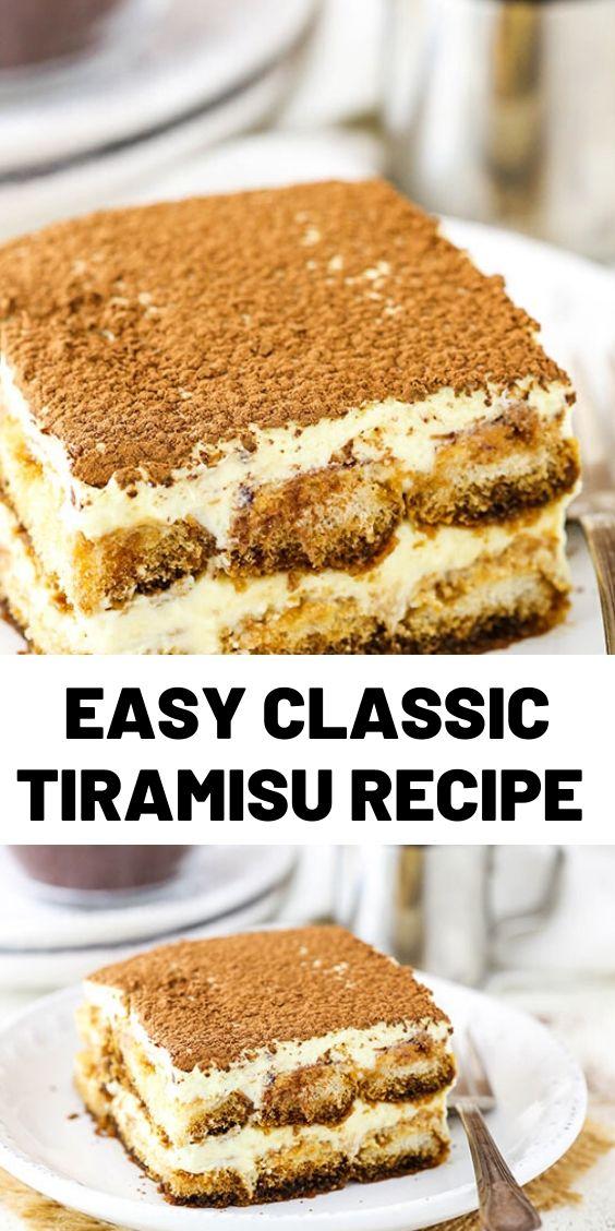 Easy Classic Tiramisu Recipe