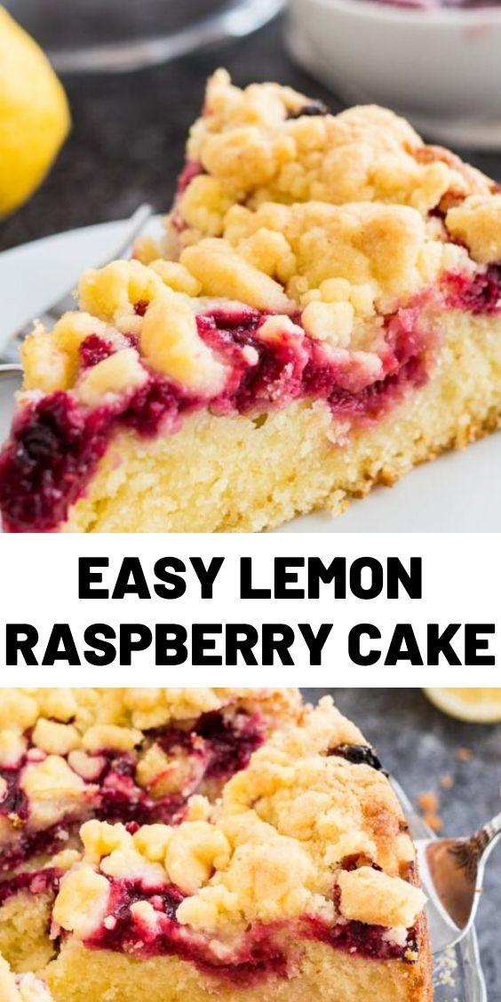 Easy Lemon Raspberry Cake