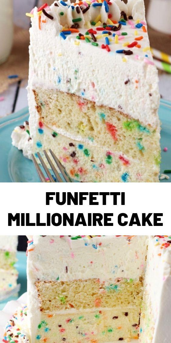 Funfetti Millionaire Cake