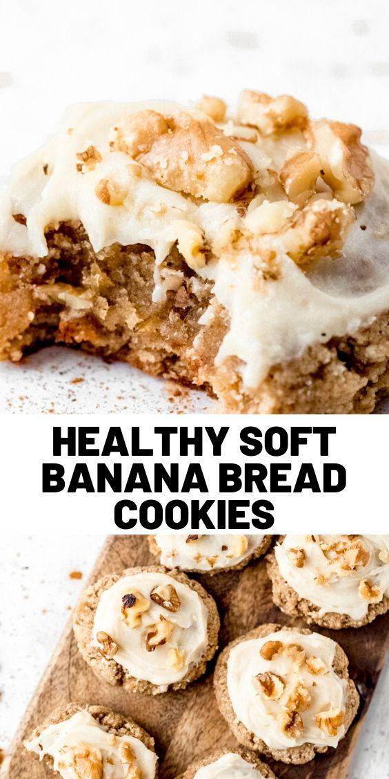 Healthy Soft Banana Bread Cookies